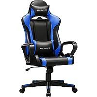 SONGMICS Gaming Stuhl, Schreibtischstuhl, Computerstuhl, Bürostuhl, abnehmbare Kopfstütze, Lendenkissen…