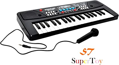 SuperToy(TM) 37 Keys Piano with DC Output, Mobile Charging Point and Microphone