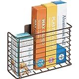 mDesign Panier de Rangement en métal – Rangement Placard pour Accessoires de Cuisine – Rangement Mural pour Papier alu, Planc