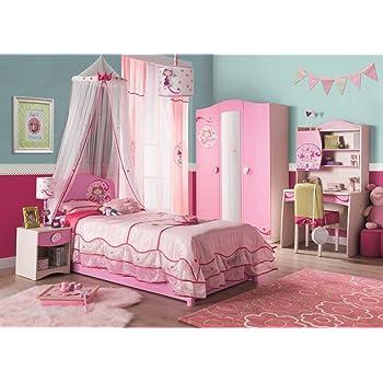 Luca 1 Schlafzimmer Komplettset Bett Kleiderschrank Set Pinie Weiß //  Trüffel Froschkönig24