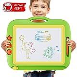 Ardoise Magique, 43 x 37cm table magique pour enfants grand Doodle Pad planche à dessin coloré avec 3 timbres magnétiques pour les enfants 3 4 5 ans