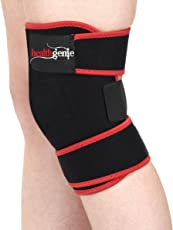 Healthgenie Adjustable Knee Support with Free Size Fits Most (Black)