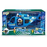 Pinypon Action - Helicóptero de policía con 1 Figura y Accesorios, para niños y niñas de 4 a 8 años (Famosa 700014782)
