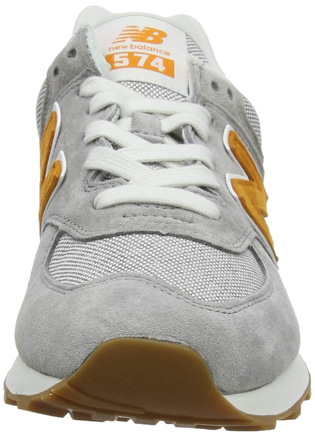 new balance 574 grigio arancione uomo