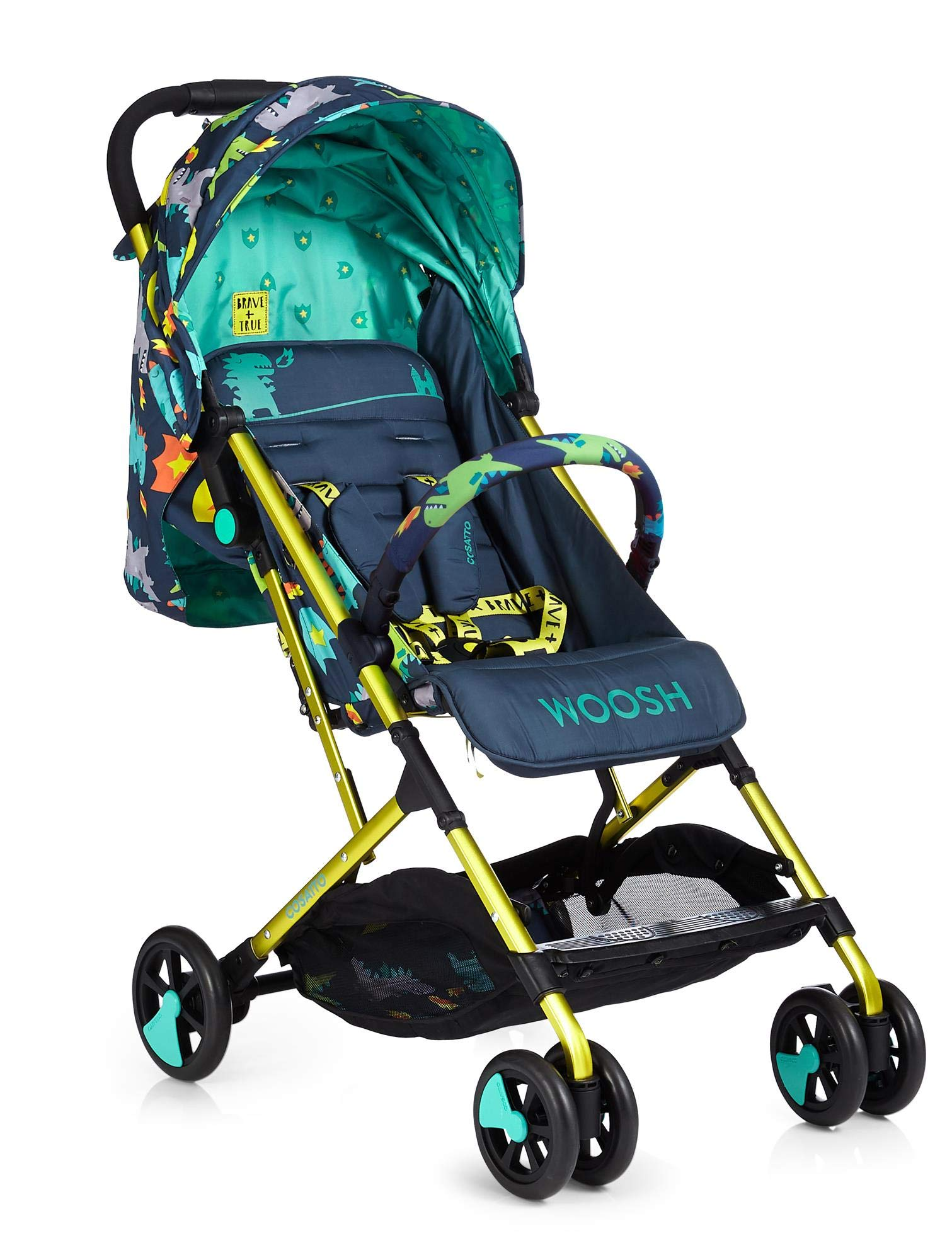 Cosatto CT4253 Woosh 2 Dragon Kingdom 7.2 kg Cosatto Suitable from birth to max weight of 25kg, lets your toddler use it for even longer Lightweight, sturdy aluminium frame New-born recline 3