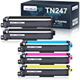 OfficeWorld Compatible Brother TN247 TN243 TN-247 TN-243 Cartouche de Toner pour Brother MFC-L3750CDW MFC-L3730CDN MFC-L3710C