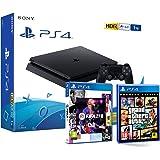 PS4 Slim 1Tb Negra Playstation 4 Consola + FIFA 21 + GTA V Grand Theft Auto 5