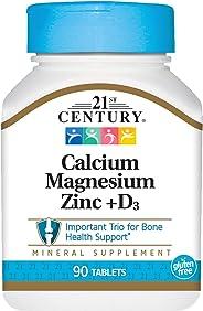 21st Century Cal Mag Zinc + D - 90 Tablets