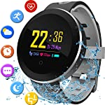 Smart Watch Fitness Tracker with Heart Rate Blood Pressure Sleep Monitor IP68 Waterproof Activity Tracker Watch Pedometer...