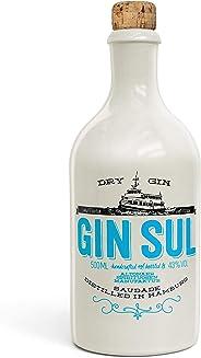 Gin Sul (1x0,5l) Original Dry Gin destilliert und abgefüllt in Hamburg, hochwertige wei?e Tonflasche, zarte Aromen von wildem