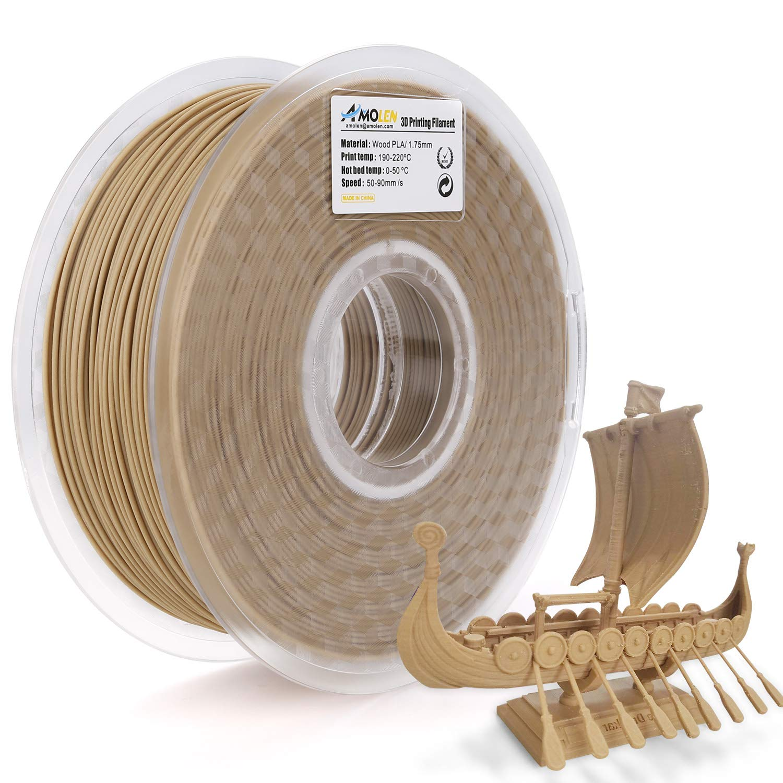 AMOLEN PLA Imprimante 3D Filament, 1.75mm 225G,+/- 0.03 mm Matériaux d'impression 3D en filament, comprend échantillons.