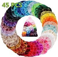 45 Colores Velvet Elástico Hair Scrunchies, Lazos Elásticos De Banda Pelo Stretchy Multicolor De Terciopelo Accesorios...