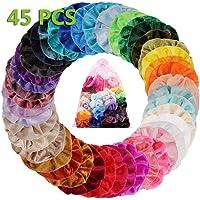 45 Colori Elastico In Velluto Scrunchies, Colorato Forte Tenere Bobble Capelli Fasce Elastici Per Capelli Fasce Velluto…