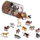 Terra by Battat AN6004Z 60-delige dierfiguren collectie wilde dieren set – leeuw, tijger, zebra, nijlpaard, olifant, eland, k