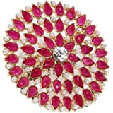 ASMITTA Gold Toned Adjustable Ring for Women & Girls