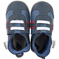 Bobux BB 4237 - Scarpe sportive per bebè, blu navy/rosso, taglia M (19 EU)