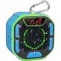 BassPal Enceinte Bluetooth Portable de Douche, Haut Parleur Étanche IPX7 avec Son Puissant, Écran LED, Mousqueton…