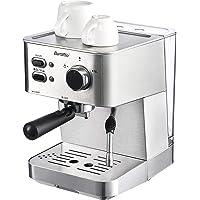 Barsetto Espressomaschine mit Siebträger und Professioneller Milchschaumdüse, 1350W Hohe Leistung Edelstahl…