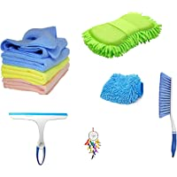 Winberg Car Cleaning Combo Pack Microfiber Towel Set of 3 1 Carpet Brush 1 Washing Scurb Microfibre Gloves Full Interior…