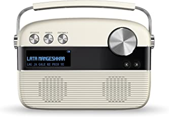 Saregama Carvaan SC02 Portable Digital Music Player with Remote Control (Porcelain White)