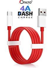 ONCRO® Compatible Dash/Warp 4-5a Rapid Charging and sync USB Type C Cable Suitable for OnePlus All Type C Devices 7, 7 Pro, 6T, 6, 5T, 5, 3T, 3