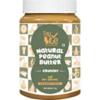 Trubite Natural Peanut Butter (Crunchy) (1kg) | Unsweetened | 30g Protein | Non GMO | Gluten Free | Cholesterol Free