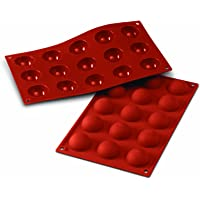 Silikomart 20.005.00.0060 SF005 Moule Forme Demi-Sphères 15 Cavités Silicone Terre Cuite