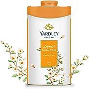 Yardley Imperial Sandalwood Perfumed Talcum Body Powder, Fresh floral scent, all day long, 250 gm