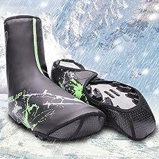 Ocamo PU Waterproof Cycling Shoe Covers Bicycle Warm Overshoes Riding Equipment for MTB Mountain Road Bike