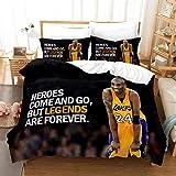 Parure de lit Kobe Bryant basket-ball Taie doreiller Tiseco Housse de couette 140 x 200