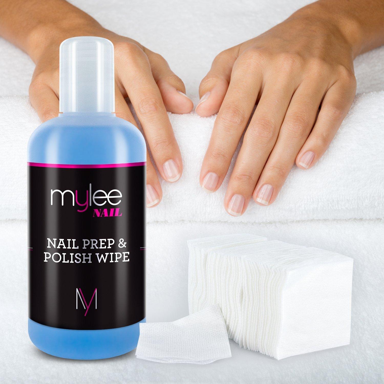 Mylee Kit Gel Limpiador De Residuos Prep Wipe 250ml 100 Toallitas De Algodón Sin Pelusa Cuidado Para La Preparación Y Acabado De Las Uñas Limpia