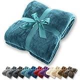 Gräfenstayn® Coperta morbida - tante dimensioni e colori diversi - coperta in microfibra da soggiorno copriletto copri divano