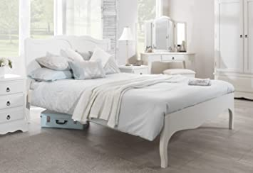 romance white king bed 5ft stunning french bed frame quality king size bed - White King Size Bed Frame