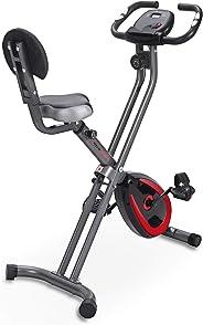Ultrasport F-Bike Advanced Cyclette da Allenamento con Computer e App, Sensori delle Pulsazioni, Pieghevole
