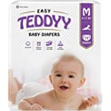 Teddyy Easy Baby Diapers Medium (White, 5-7 Months) - 75 Counts