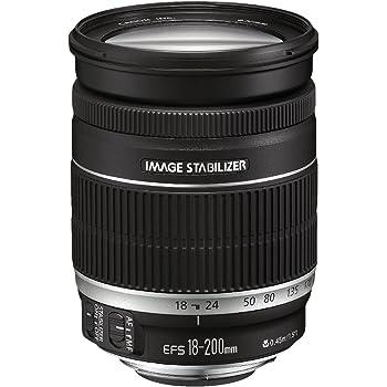 Canon EF 18-200mm f/3.5-5.6 IS - Objetivo para Canon (Distancia Focal 18-200mm, Apertura f/3.5-36, Zoom óptico 11x,estabilizador, diámetro: 72mm) Negro