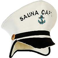 Natural Textile Chapeau de Sauna 'Sauna Captain' Blanc - 100% chapeaux en feutre de laine biologique - Protégez votre…