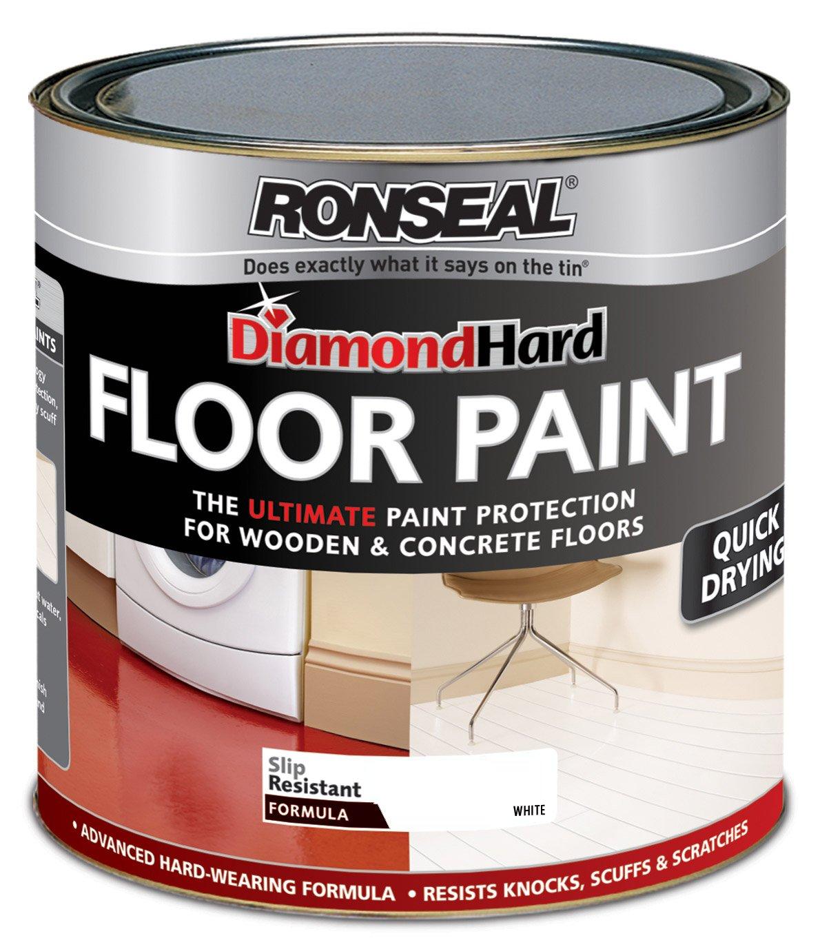 ronseal dhfpwh25l 25l diamond hard floor paint white amazoncouk diy u0026 tools