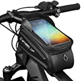 Wheel Up Bike Accessories Bike Bag Bicycle Bag Frame Front Waterproof Pouch Cycling Handlebar Tube Bag Touch Screen Mobile Ph