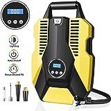 Innoo Tech Tyre Inflator, Digital Tyre Pump Air Compressor 12V 120W 150PSI Digital Tyre Inflator with Larger Air Flow, 3 Nozz