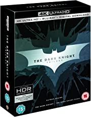 The Dark Knight Trilogy: Batman Begins + The Dark Knight + The Dark Knight Rises (4K UHD + Blu-ray + Digital Download) (9-Disc Box Set) (Region Free + Slipcase Packaging + Fully Packaged Import)