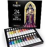 Castle Art Supplies Olieverfset Voor Kunstenaars of Beginners - 24 Levendige Olieverf Kleuren - Professionele Schilderijenset