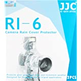 JJC Rain Protection Cover for Canon, Nikon, Olympus, Pentax, Samsung, Sigma, Sony D-SLR Cameras with Mounted Flash (Pack of 2