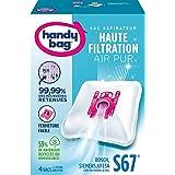 Melitta Handy Bag - S67 - 4 Sacs Aspirateurs, pour Aspirateurs Bosch, Siemens et UFESA, Fermeture Hermétique, Filtre Anti-All
