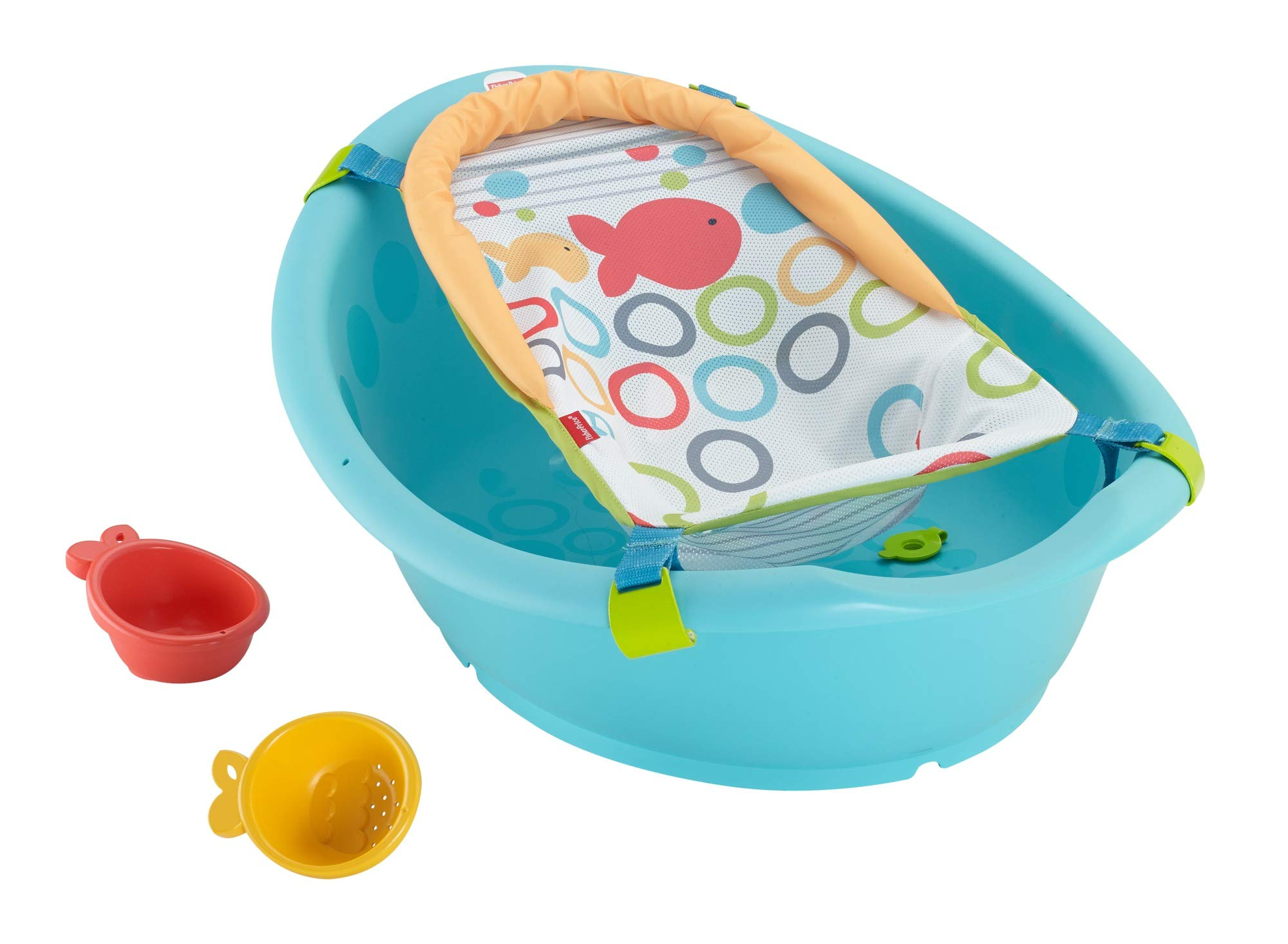 Fisher-Price Rinse and Grow Tub, Grows with Baby from New-born to Toddler with Two Positions and Easy Cleaning, from Birth