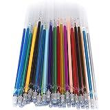 Perfeclan 36/60/100 Pièces Gel Stylo Recharges Glitter Métallique Pastel Fluorescence Néon Stylo d'encre Recharges pour Adult