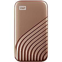 WD My Passport SSD 500 GB externe SSD (externe Festplatte mit SSD Technologie, NVMe-Technologie, USB-C und USB 3.2 Gen-2…