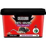 Caussade CARSBLBF300 Anti Rats & Souris | 15 Blocs | Lieux Humides | Garage Cave | 300g | Espèces résistantes | Efficacité Ma