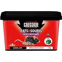 Caussade CARSBLBF300 Anti Rats & Souris | 15 Blocs | Lieux Humides | Garage Cave | 300g | Espèces résistantes…