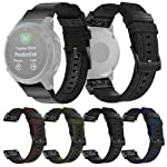 Woven Nylon Sweatproof Watch Band Strap for Garmin Fenix 5/5 Plus/Forerunner 935